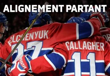 CANADIENS/LIGHTNING: Les alignements des deux équipes!