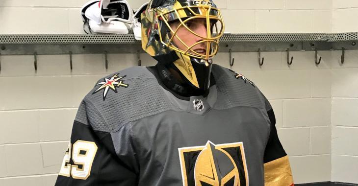 Marc-André Fleury vend son masque des Golden Knights!