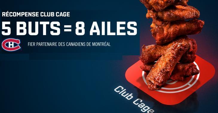 La Cage modifie sa promotion d'ailes avec le CH!