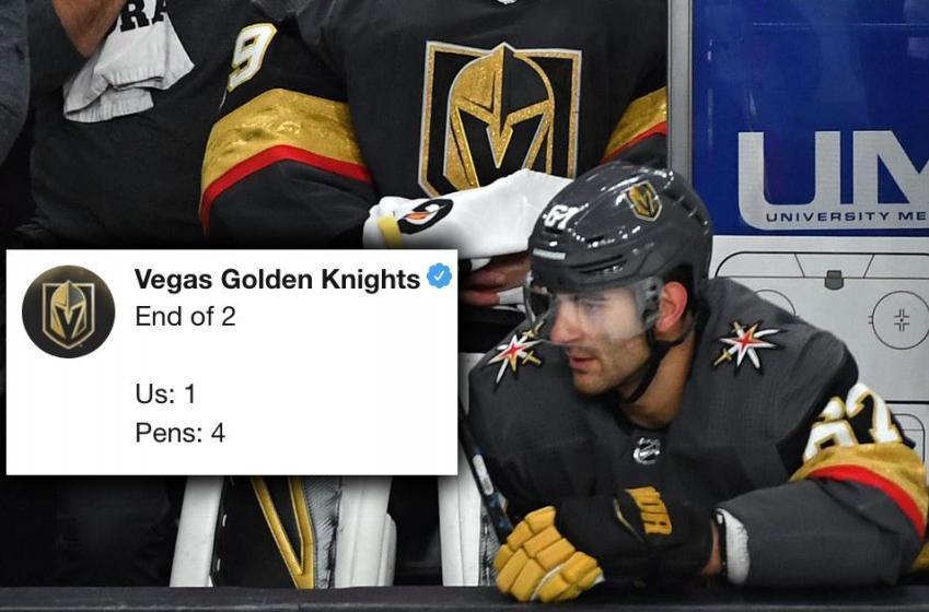 Le compte Twitter des Golden Knights se tape une crise en temps réel