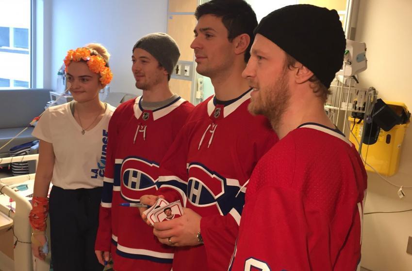 Les joueurs des Canadiens ont rencontré des enfants malades aujourd'hui