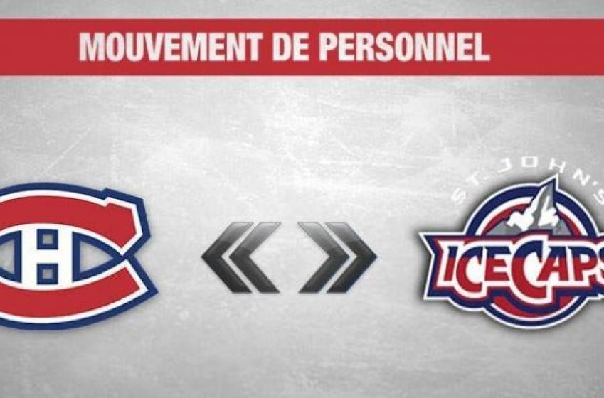 Le Canadien rappelle un joueur des IceCaps!