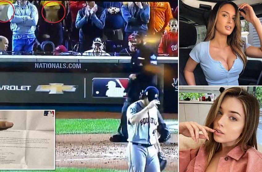 Les deux femmes qui ont montré leurs seins hier sont bannies par la MLB!