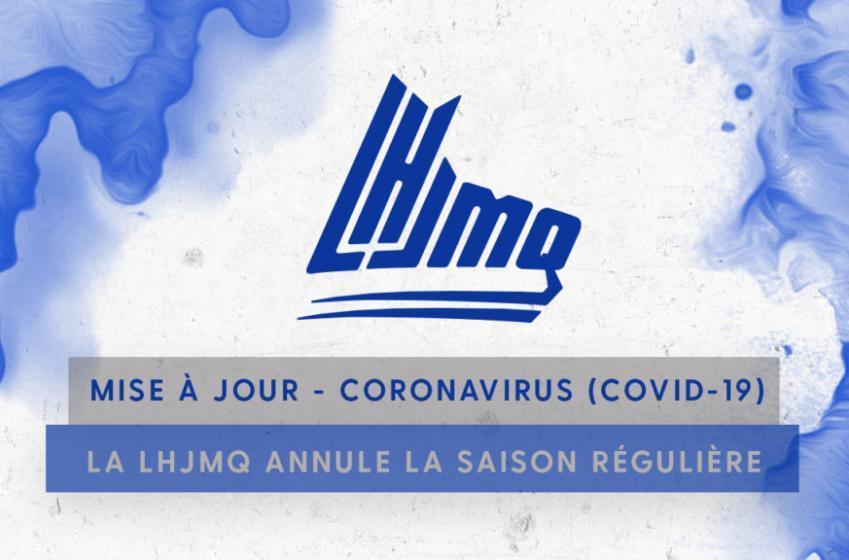 La LHJMQ annule le reste de sa saison régulière