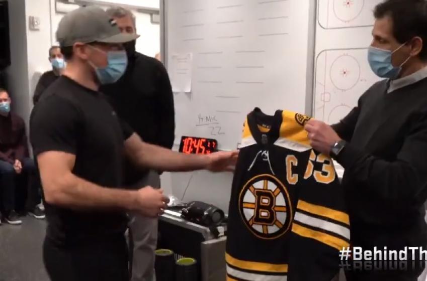Les Bruins ont fait un énorme prank à Patrice Bergeron