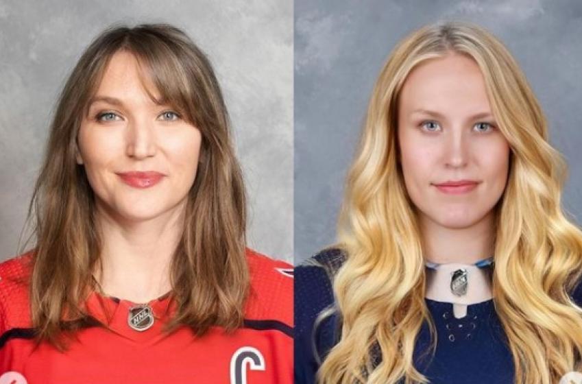 35 joueurs de la LNH transformés en femmes!