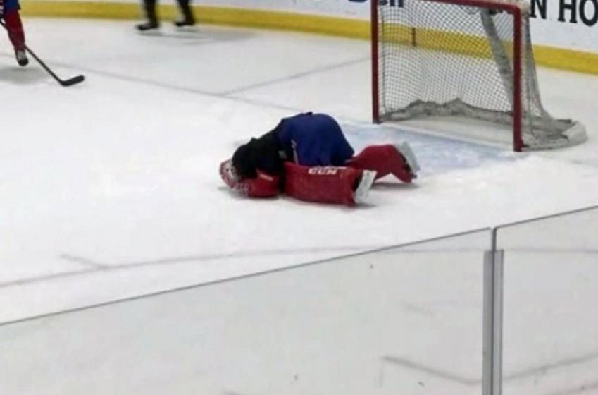 Carey Price victime d'une blessure à l'entraînement du Canadien
