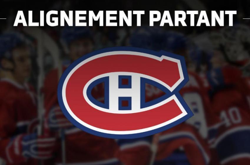 CANADIEN / JETS : Voici l'alignement partant des deux équipes ce soir