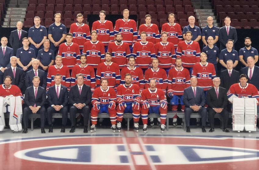 Photo d'équipe sans Jonathan Drouin chez le Canadien aujourd'hui