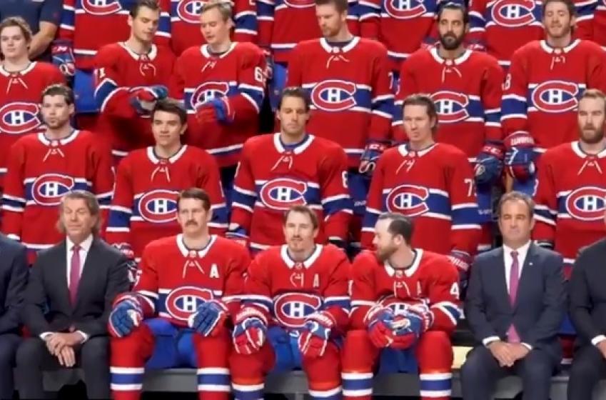 Le malaise était palpable lors de la photo d'équipe du Canadien