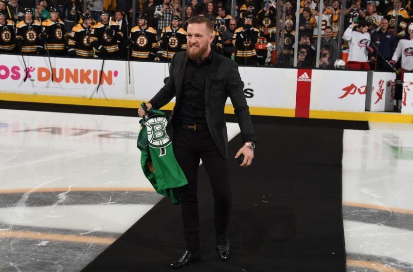 Torey Krug a été marqué par la visite de Connor McGregor au match des Bruins